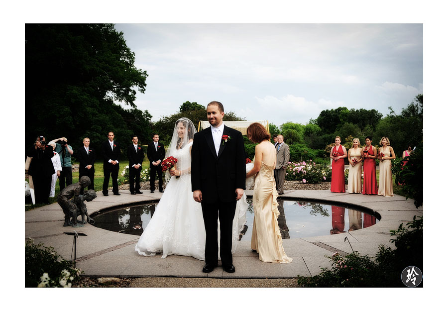 the arboretum makes it one of the most beautiful outdoor wedding venue